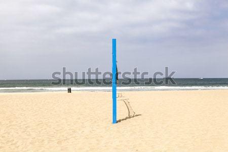 Röplabda posta tengerpart kék víz nyár Stock fotó © meinzahn