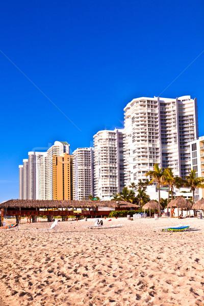 пляж Солнечный Майами красивой Сток-фото © meinzahn