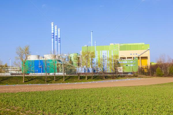 silo in Industry Park in beautiful landscape near Frankfurt  Stock photo © meinzahn