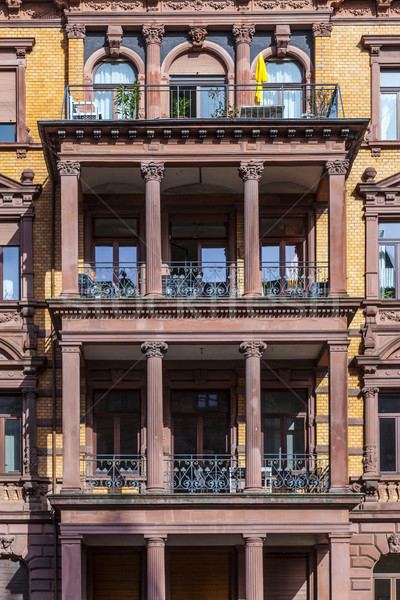facade of loft apartments in old classicistiy houses in Wiesbade Stock photo © meinzahn