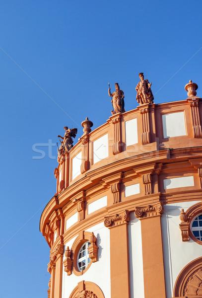Ayakta çatı saray detay gökyüzü mavi Stok fotoğraf © meinzahn