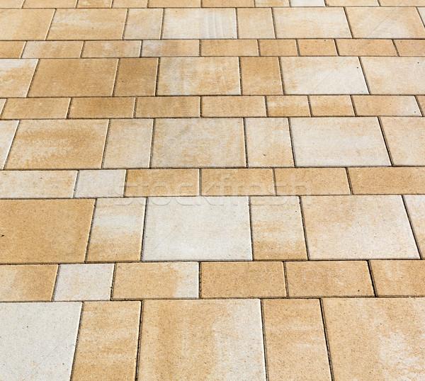 Harmonisch vloer tegels meetkundig structuur stad Stockfoto © meinzahn