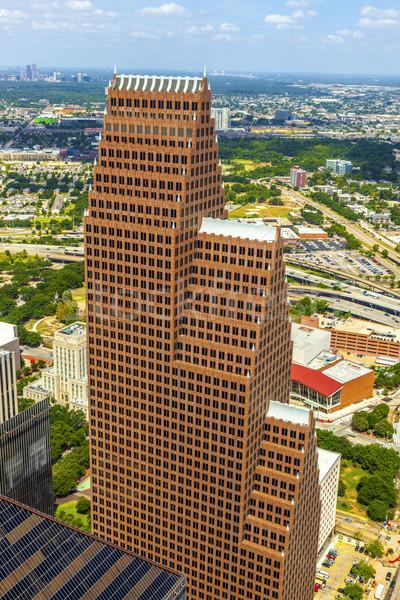 Stockfoto: Antenne · moderne · gebouwen · centrum · Houston · dag