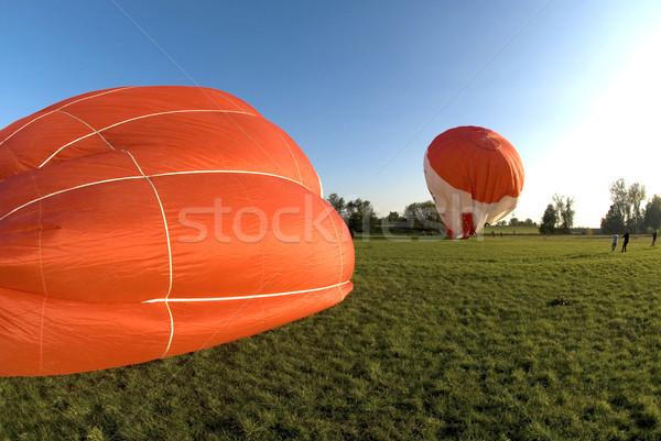 Balonem ognia charakter zabawy koszyka osoby Zdjęcia stock © meinzahn