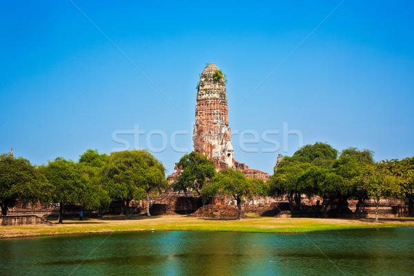 Tapınak koç eski eski sanat göl Stok fotoğraf © meinzahn