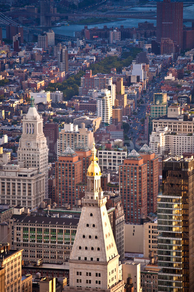 Aerial panoramic view over upper Manhattan from Empire State bui Stock photo © meinzahn