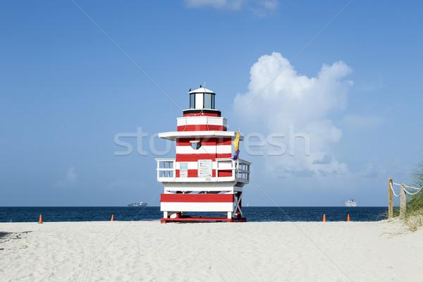 ライフガード 塔 マイアミ ビーチ 美しい 夏 ストックフォト © meinzahn