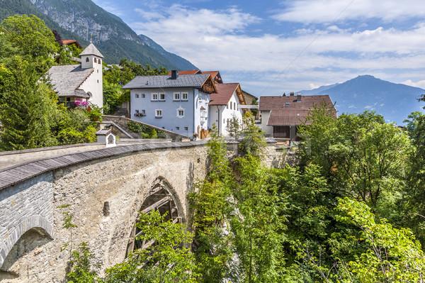 old roman bridge in Grins,, Tyrol, Austria Stock photo © meinzahn
