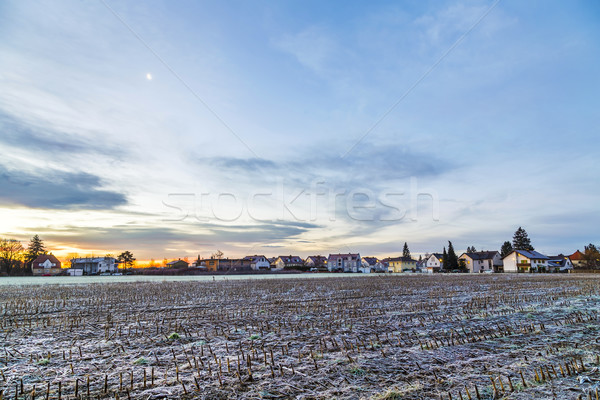 sunrise in a suburb of Munich with Chinool winds  Stock photo © meinzahn