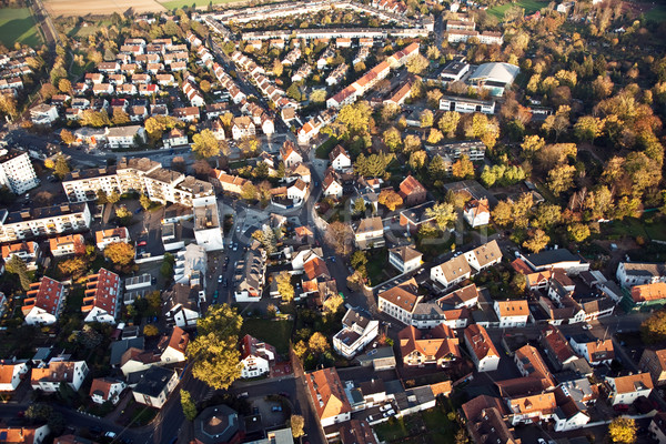 small typical german small city of bonames in birds view Stock photo © meinzahn