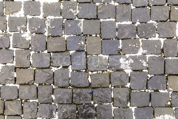 Old Cobble Stone Street Background Stock photo © meinzahn