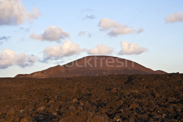 vulcanic landscape under the extincted vulcano Stock photo © meinzahn