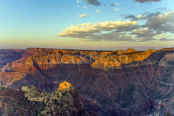 colorful Sunset at Grand Canyon seen from Mathers Point, South R Stock photo © meinzahn