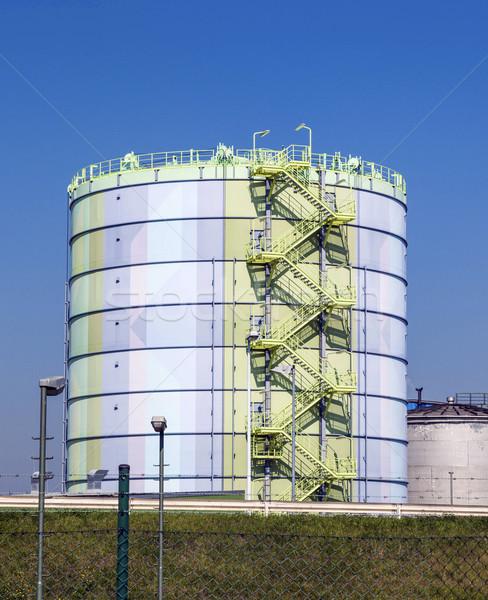 silo in an Industry Park in beautiful landscape  Stock photo © meinzahn