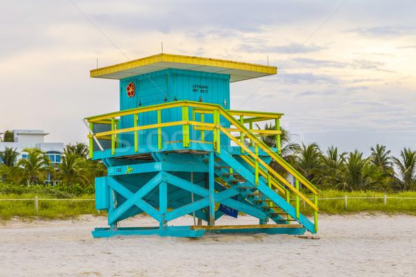 Torre meridionale spiaggia Miami Florida panorama Foto d'archivio © meinzahn