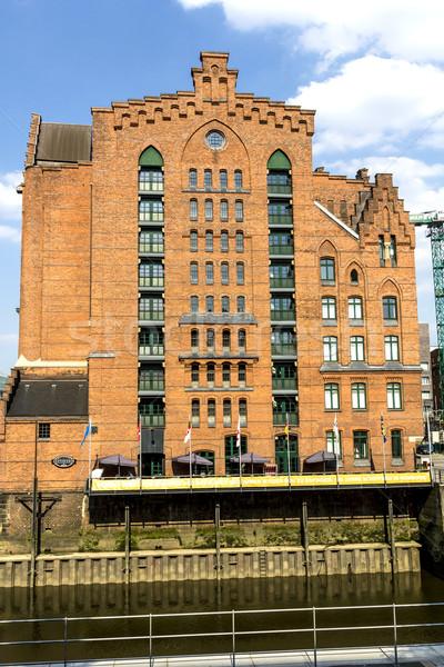 赤 住宅 ハンブルク オフィス 建物 市 ストックフォト © meinzahn