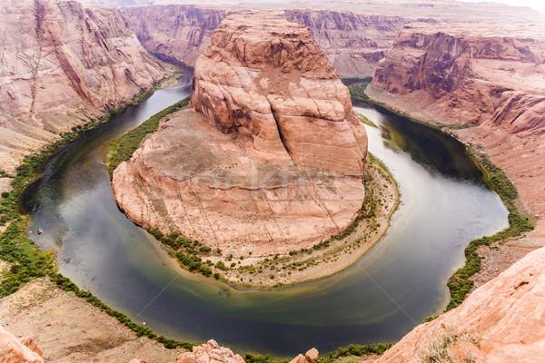 horseshoe bend in page, Arizona, river colorado Stock photo © meinzahn
