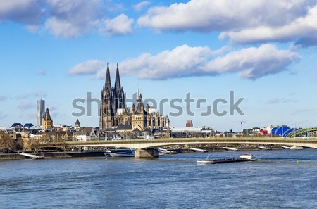 Stad lijn skyline koepel rivier Stockfoto © meinzahn