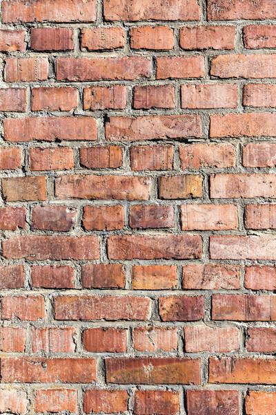 Vecchio industriali mattone costruzione muro Foto d'archivio © meinzahn