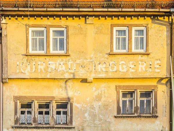 old facade in Bad Frankenhausen Stock photo © meinzahn