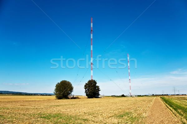 Radio instalacja złoty Błękitne niebo niebo zdrowia Zdjęcia stock © meinzahn