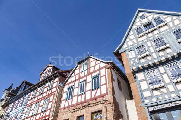 facade of old historic houses from public area in Gelnhausen Stock photo © meinzahn