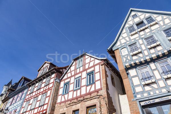 Stock fotó: Homlokzat · öreg · történelmi · házak · nyilvános