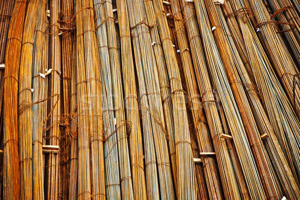 iron for concrete armoring at the construction site Stock photo © meinzahn
