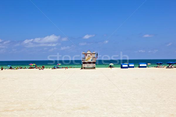 Ver art deco estilo playa cielo Foto stock © meinzahn