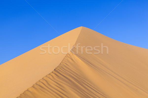 Duna amanecer desierto hermosa sol paisaje Foto stock © meinzahn