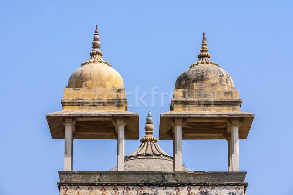 красивой янтарь форт город Индия Мир Сток-фото © meinzahn