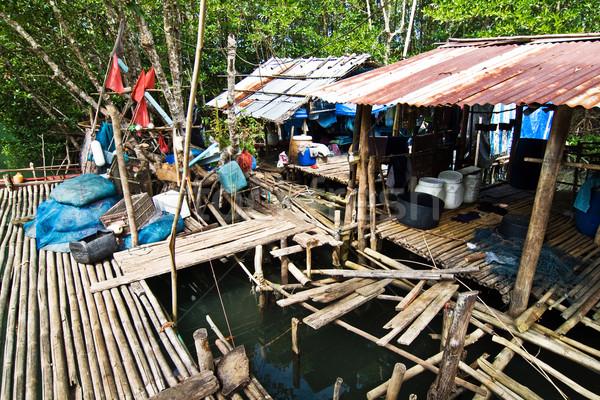 Сток-фото: небольшой · деревне · рыбы · природы · океана · лодка