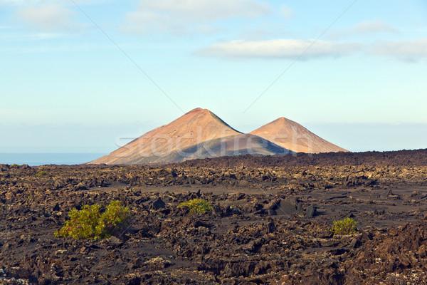 volcano in timanfaya national park in Lanzarote, Spain  Stock photo © meinzahn
