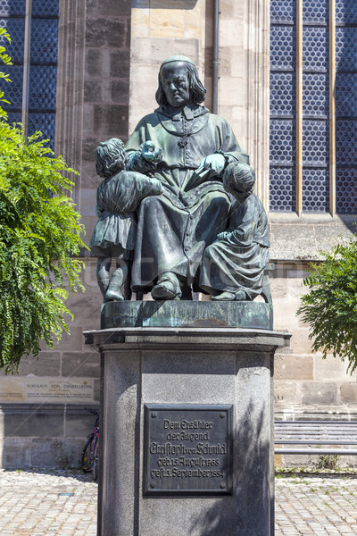 statue of author Christoph vom Schmid in Dinkelsbuehl Stock photo © meinzahn