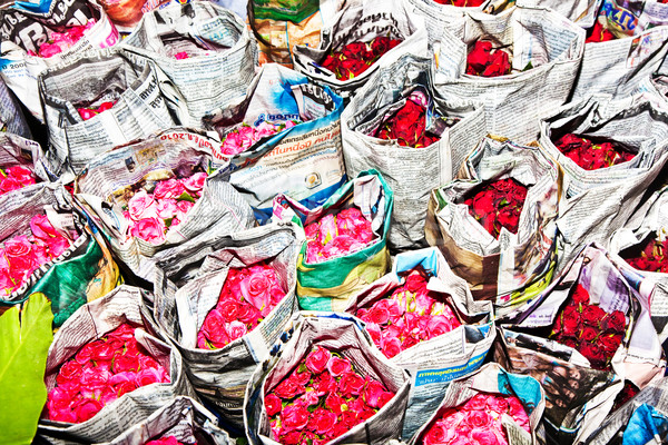 Rózsák virág piac kora reggel színes virágok Stock fotó © meinzahn