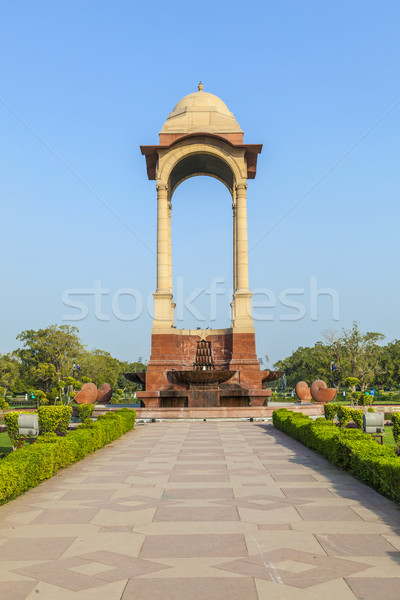 empty canopy of George V at India Gate Stock photo © meinzahn