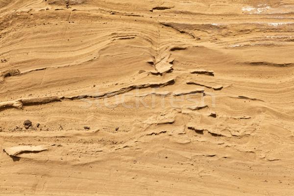 Wulkaniczny kamień formacja Błękitne niebo krajobraz tle Zdjęcia stock © meinzahn
