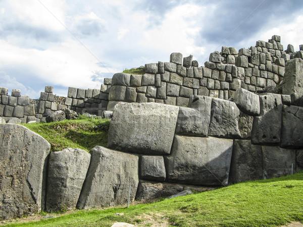 Ruines Peru reizen rotsen oude sluiten Stockfoto © meinzahn