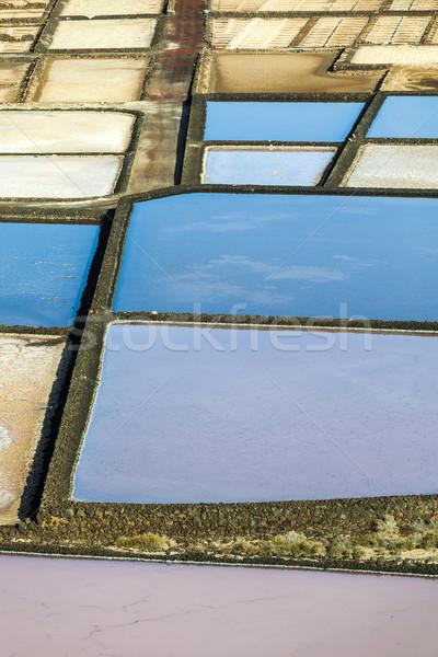 Tuz rafineri İspanya soyut manzara arka plan Stok fotoğraf © meinzahn