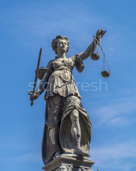 Statue of Lady Justice (Justitia) in Frankfurt  Stock photo © meinzahn
