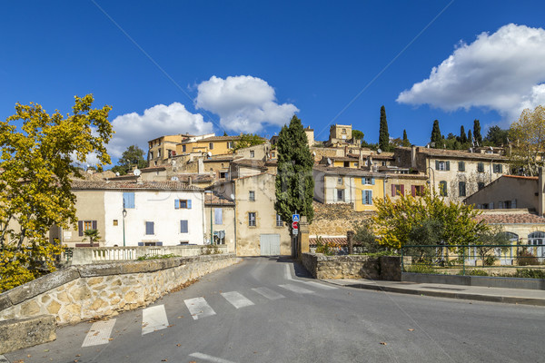 scenic view of village of Jouques in southern France  Stock photo © meinzahn