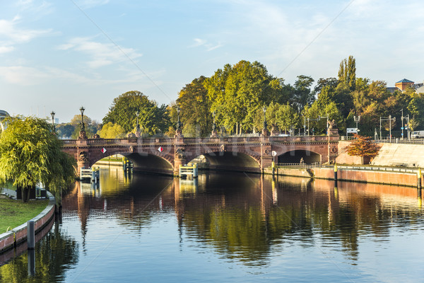 Ver histórico arenito ponte Berlim Alemanha Foto stock © meinzahn