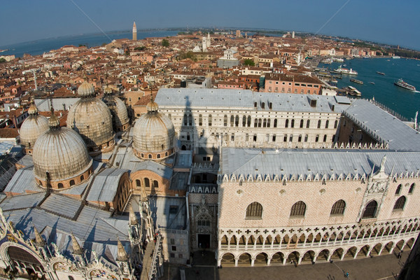overlooking the beautiful city and old palaces  of venice with t Stock photo © meinzahn