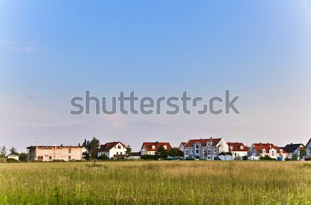 beautiful housing area in Munich in Nature Stock photo © meinzahn