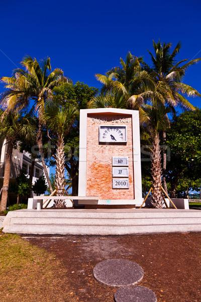 Art deco óra randevú tájékozódási pont dél Miami Stock fotó © meinzahn