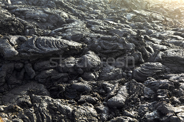 Stones of volcanic flow give a beautiful  structure Stock photo © meinzahn