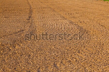 mark of plow on field   Stock photo © meinzahn
