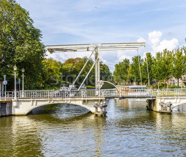 draw bridge in Harlingen  Stock photo © meinzahn
