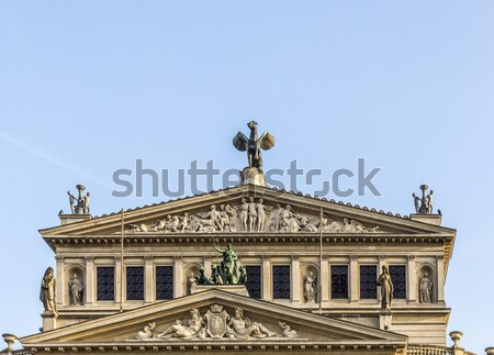 öreg opera ház Frankfurt délelőtt fő- Stock fotó © meinzahn
