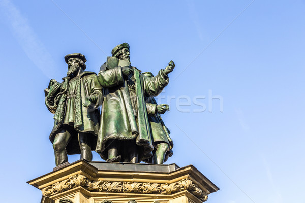 Johannes Gutenberg monument on the southern Rossmarkt   Stock photo © meinzahn
